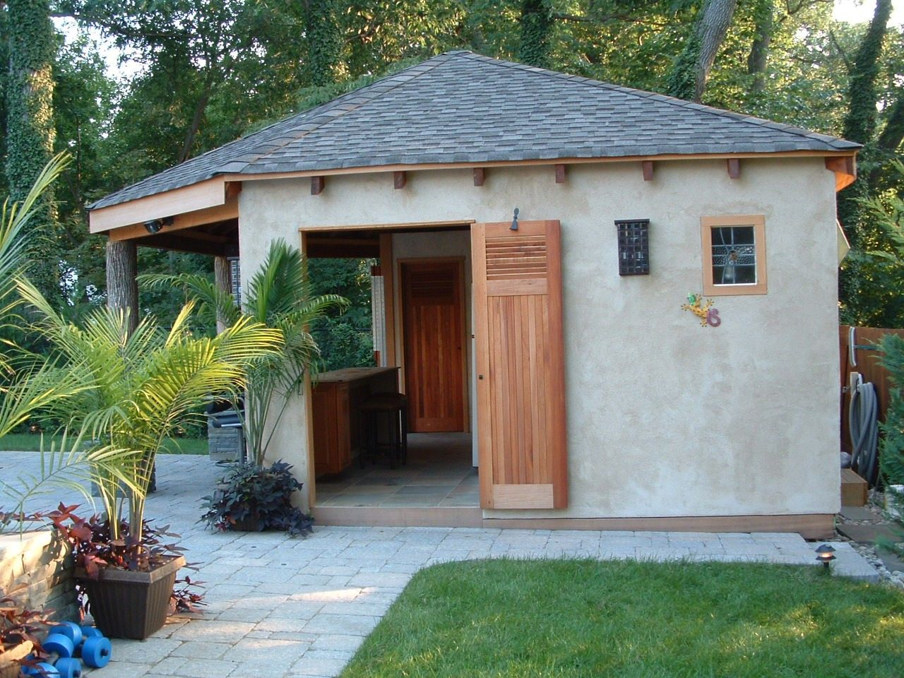 cedar poolhouse doors