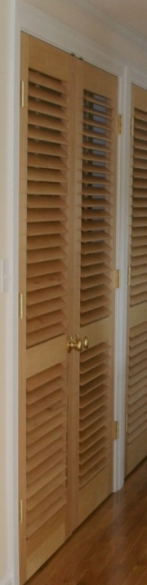 Plantation Shutters used as Interior Doors