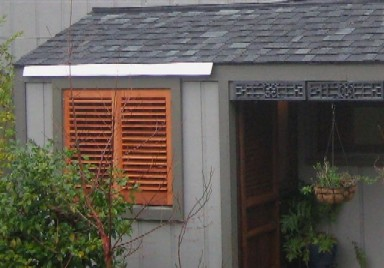 Plantation Shutters used as Exterior Shutters