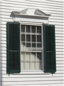 exterior shutters on the Cape May County Court House