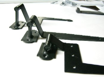 offsets for exterior shutter hinges