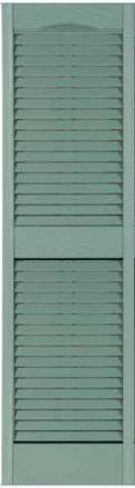 14.1/2'' x 80'' Exterior Plastic Louvered Shutter