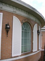 Arched Aluminum Hurricane Shutters