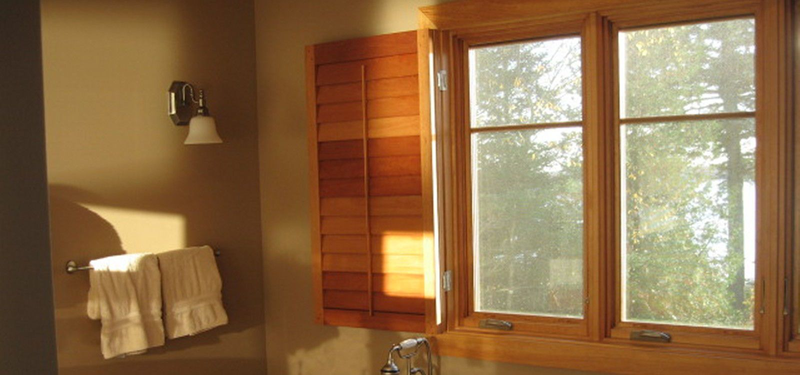... Operable Louvered Bathroom Shutters