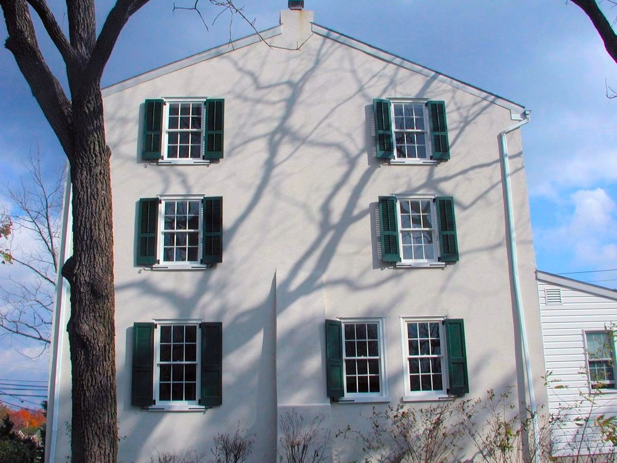 Exterior Shutters on a Bucks County farmhouse
