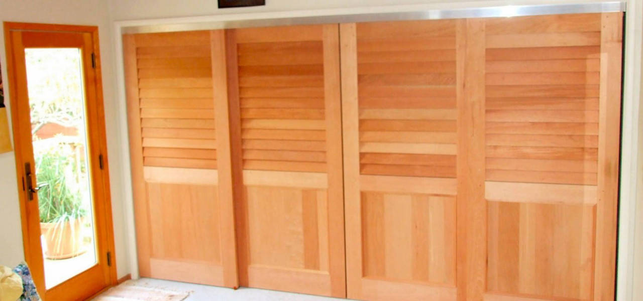 ... California Fixed Louver Over Flat Panel Sliding Closet Doors ...