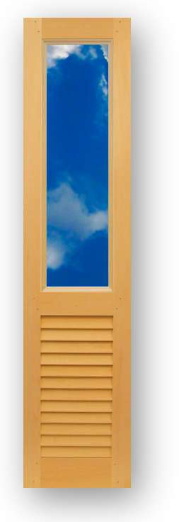 Closet Door With Opening For Gl Or Mirror Insert Over Fixed 6522