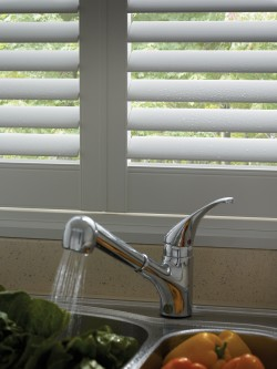 kitchen faux plantation shutters