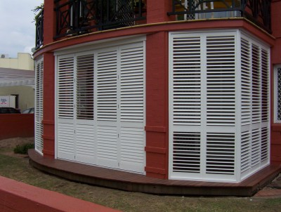Porch Faux Plantation Shutters 