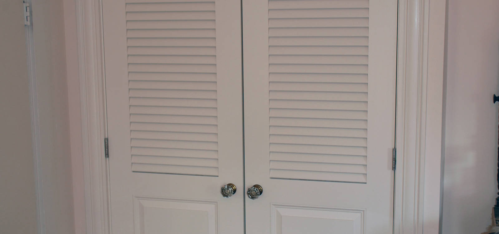 Superb ... Closet Doors Fixed Louver Over Raised Panel Doors ...