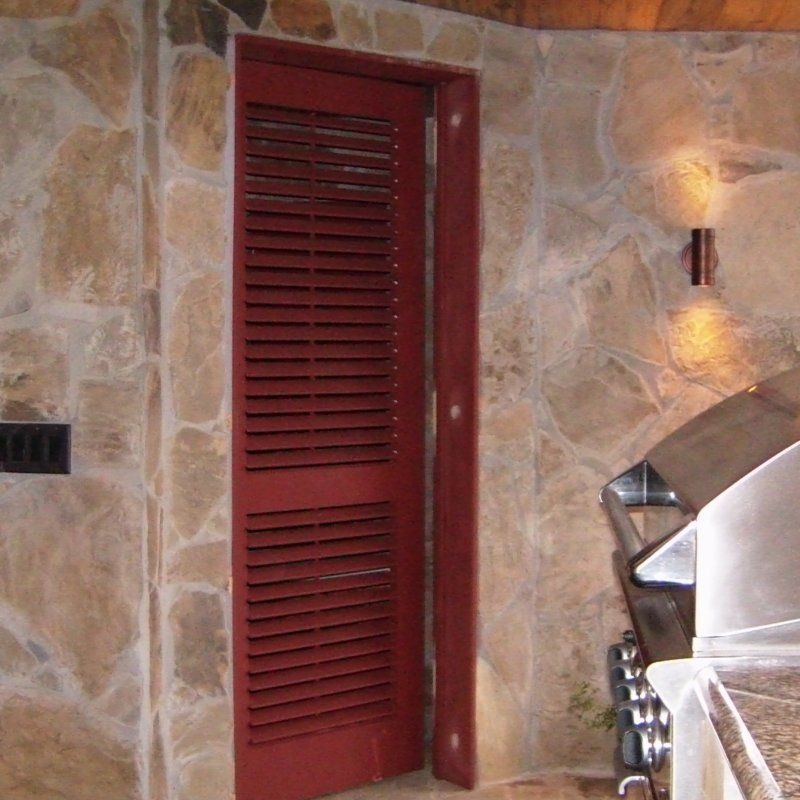 Operable Louvered Exterior Doors