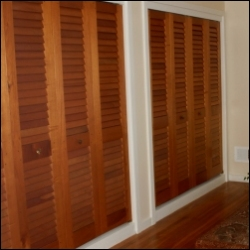 Tapered Louvered Doors made in Spanish Cedar