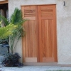 Traditional Louvers over Tongue & Groove Cabana Doors