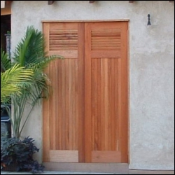 Traditional Louvers over Tongue & Groove Doors