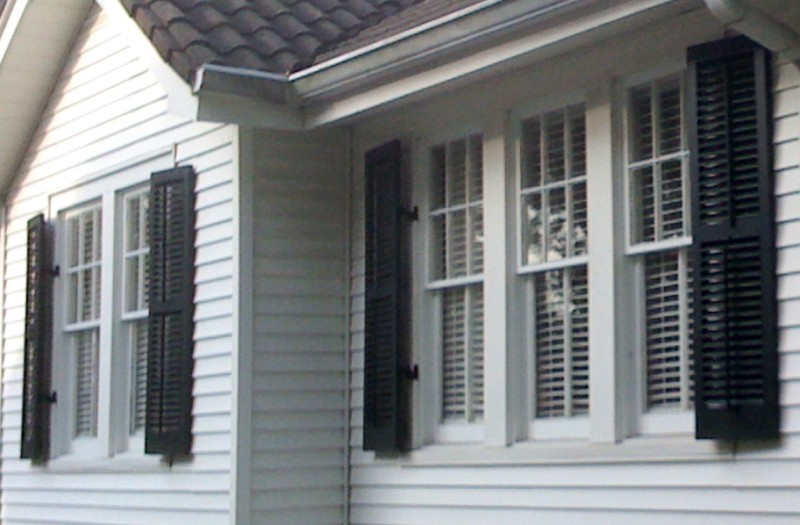 Decorative exterior shutters