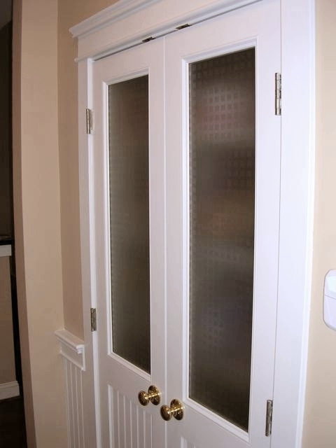 Glass Over Bead Board Doors