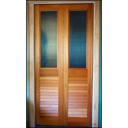 custom glass louvered bofold doors