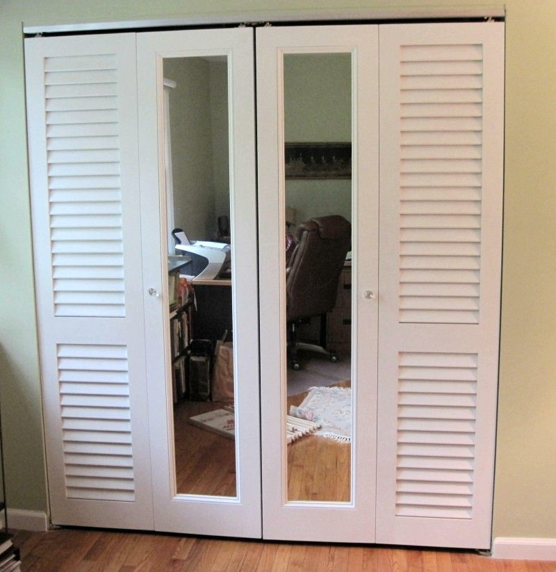 Louvered Closet Doors With Mirrors