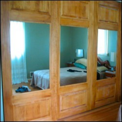 Combination Mirror & Panel Sliding Closet Doors