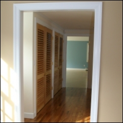 Louvered Doors with Operable Plantation Louvers
