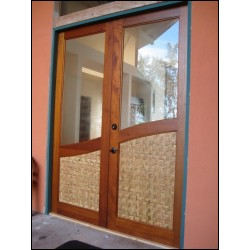 Custom Glass Doors with Wave Design