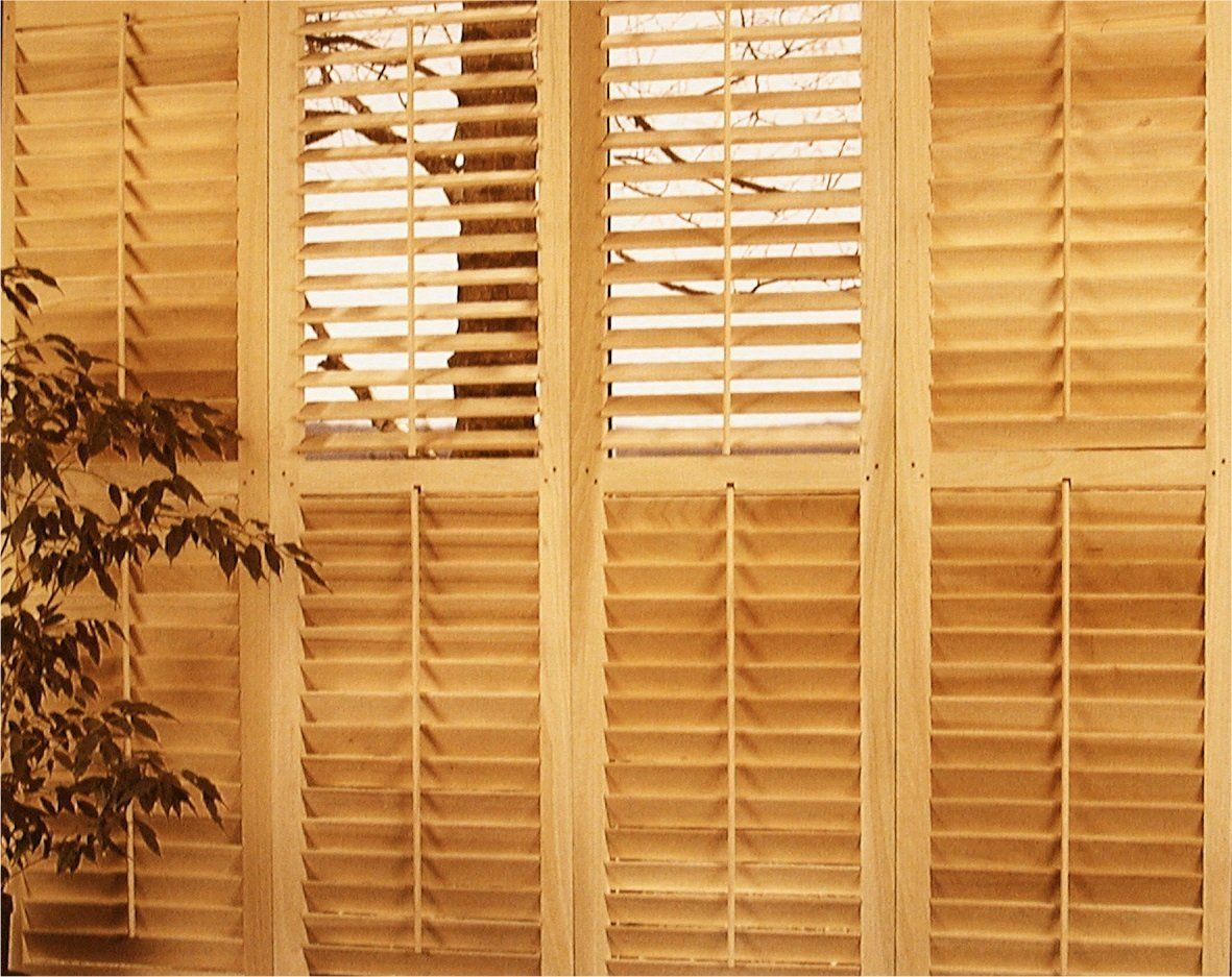 Operable louvered basswood plantation shutters for Exterior wood louvers