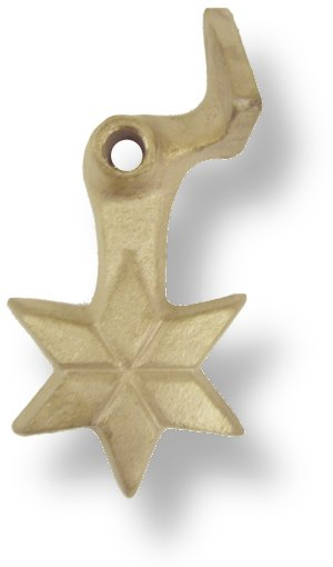 Cast Bronze Star Shutter Dogs