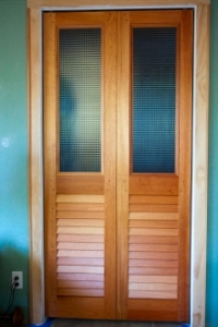 interior doors with glass over louvers