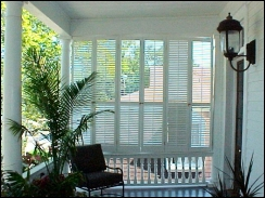 Operable Louvered Porch Shutters