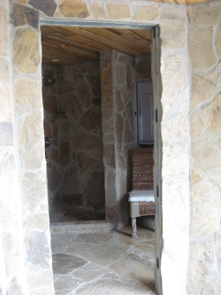 rough stone opening for doors