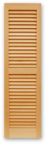 Interior and Exterior Shutters with 1.7/8'' Operable Traditional Louvers