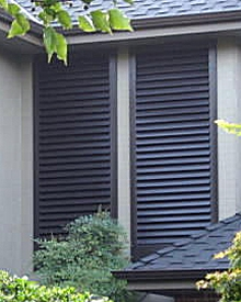 fixed louvered decorative exterior shutters