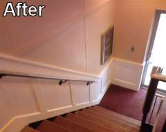DIY Wainscot - after photo