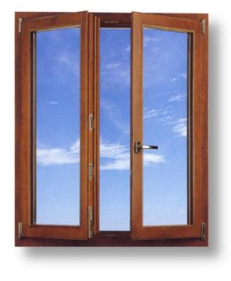 Mahogany European Tilt Turn Windows from the premier manufacturer in Italy, Comeca Spa.