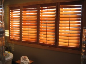 Custom sized plantation shutters