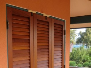 Custom sized louvered doors