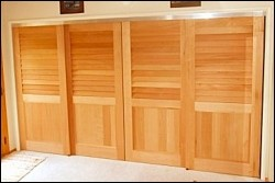 Sliding Closet Doors Made From Spanish Cedar