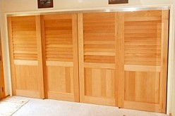 Spanish Cedar Sliding Closet Doors